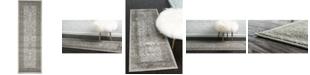 Bridgeport Home Aldrose Ald4 Light Gray 2' x 6' Runner Area Rug