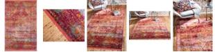 """Bridgeport Home Kenna Ken1 Red 5' 5"""" x 8' Area Rug"""