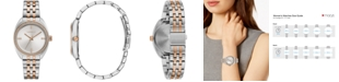 Caravelle Women's Crystal Two-Tone Stainless Steel Bracelet Watch 32mm