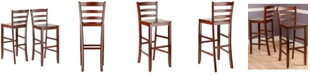 "Winsome Benjamin 2-Piece Ladder 30"" Bar Stool Set"