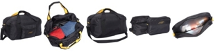 """A. Saks 22"""" Carry On Duffel Bag with Pouch"""