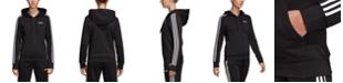 adidas Women's Essential Fleece 3-Stripe Zip Hoodie