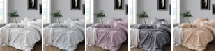 Cathay Home Inc. Yarn Dyed King/California King Duvet Cover Set