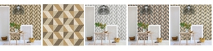 "A-Street Prints 20.5"" x 396"" Cerium Light Concrete Geometric Wallpaper"