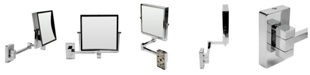 ALFI brand Square Wall Mounted 5x Magnify Cosmetic Mirror