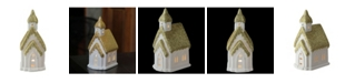 """Northlight 6"""" Home Sweet Home White and Gold Ceramic House with Light Figurine"""