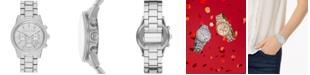 Michael Kors Women's Chronograph Ritz Stainless Steel Pavé Bracelet Watch 41mm