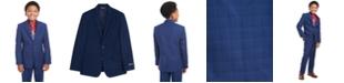 Tommy Hilfiger Big Boys Stretch Plaid Suit Jacket