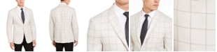 Lauren Ralph Lauren Men's Classic-Fit UltraFlex Stretch Beige Windowpane Sport Coat