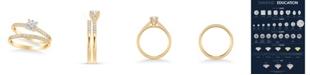 Macy's Diamond Bridal Set (3/4 ct. t.w.) in 14k Yellow, White or Rose Gold