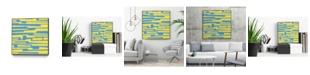 "Giant Art 20"" x 20"" Modern Circuit VII Art Block Framed Canvas"