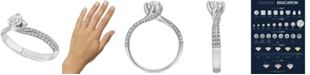 Macy's Diamond Swirl Solitaire Engagement Ring (5/8 ct. t.w.) in 14k White Gold