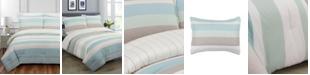 Nouvelle Home Coastal Stripe Full/Queen Comforter Set