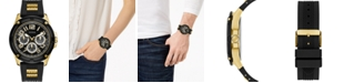 GUESS Men's Black Silicone Strap Watch 46mm