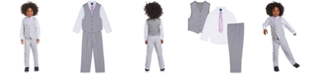 Nautica Little Boys 4-Pc. Windowpane Vest Set