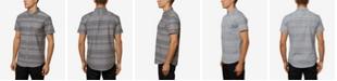 O'Neill Men's Rivera Striped Short Sleeve Button Up Shirt