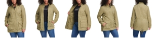 Levi's Trendy Plus Size Stand-Collar Cotton Anorak Jacket