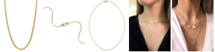 """Alex Woo Beaded 16"""" Chain Necklace in 14k Gold"""