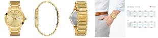 Bulova Men's Futuro Diamond Dress Diamond-Accent Gold-Tone Stainless Steel Bracelet Watch 42mm