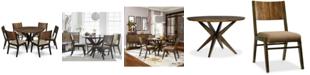 Furniture Ashton Round Pedestal Dining Furniture, 7-Pc. Set (Round Pedestal Dining Table & 6 Side Chairs)