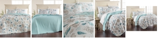 Martha Stewart Collection  Beach Finds Reversible  100% Cotton Full/Queen Quilt, Created for Macy's