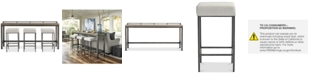 Furniture Channing 4-Pc. Table Set (Console Table & 3 Stools)