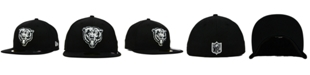 New Era Chicago Bears Black And White 59FIFTY Fitted Cap
