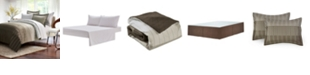 Brown & Grey Ombre Stripe 8-piece Bed-In-Bag, Twin