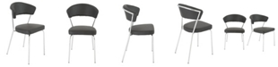 Euro Style Draco Dining Chair with Chrome Legs - Set Of 2
