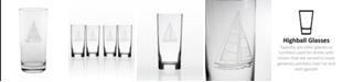 Rolf Glass Sailboat Cooler Highball 15Oz - Set Of 4 Glasses