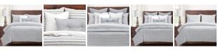 Siscovers Farmhouse Pewter Striped 5 Piece Twin Luxury Duvet Set