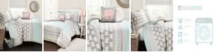 Lush Decor Elephant Stripe 4Pc Twin Comforter Set