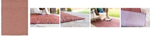Bridgeport Home Pashio Pas6 Rust Red 9' x 12' Area Rug