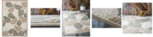 Bridgeport Home Pashio Pas2 Beige/Gray 7' x 10' Area Rug