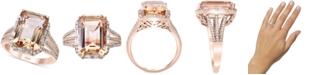 EFFY Collection EFFY® Morganite (7-1/10 ct. t.w.) & Diamond (1/3 ct. t.w.) Ring in 14k Rose Gold