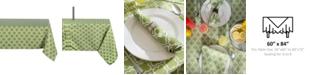 "Design Imports Design Import Lattice Outdoor Tablecloth with Zipper 60"" x 84"""