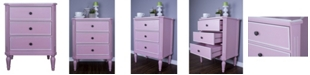 Heather Ann Creations Heather Ann Tracy 3-Drawer Accent Cabinet
