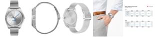 HUGO Men's #Act Stainless Steel Mesh Bracelet Watch 44mm