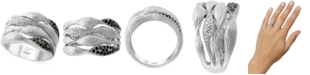 EFFY Collection EFFY® Diamond Multi-Row Statement Ring (1/4 ct. t.w.) in Sterling Silver