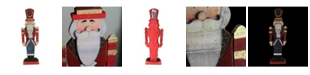 """Northlight 21"""" Red and Blue Painted Wooden Standing LED Decorative Nutcracker"""