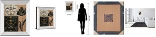 "Classy Art Tulip Silhouette by Tava Studio Mirror Framed Print Wall Art, 22"" x 26"""