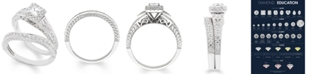 Macy's Certified Diamond (1 ct. t.w.) Bridal Set in 14k White Gold