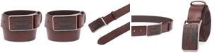 Levi's Men's Logo-Buckle Leather Belt