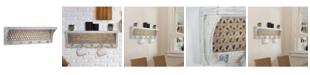 Crystal Art Gallery American Art Decor Wood Coat Rack with Shelf