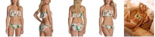 Raisins Juniors' Flounce Bikini Top & Side-Tie Bottoms