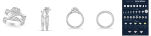 Macy's Diamond Halo Bridal Set (1 ct. t.w.) in 14k White, Rose or Yellow Gold