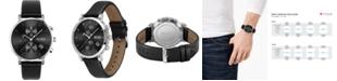 BOSS Men's Chronograph Integrity Black Leather Strap Watch 43mm