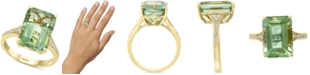EFFY Collection EFFY® Green Quartz (7-1/2 ct. t.w.) & Diamond (1/8 ct. t.w.) Ring in 14k Gold