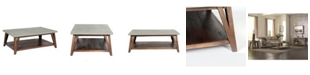 Alaterre Furniture Brookside Cement-Top Wood Coffee Table