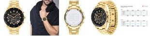 COACH Men's Preston Chronograph Gold-Tone Bracelet Watch 44mm